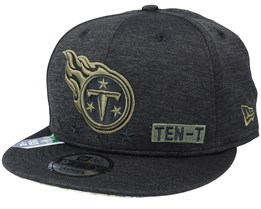 Tennessee Titans Salute To Service NFL 20 Heather Black Snapback - New Era