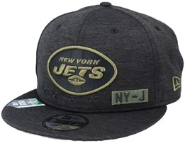 New York Jets Salute To Service NFL 20 Heather Black Snapback - New Era