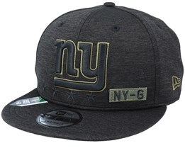 New York Giants Salute To Service NFL 20 Heather Black Snapback - New Era
