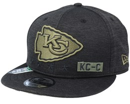 Kansas City Chiefs Salute To Service NFL 20 Heather Black Snapback - New Era