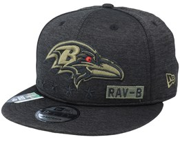 Baltimore Ravens Salute To Service NFL 20 Heather Black Snapback - New Era