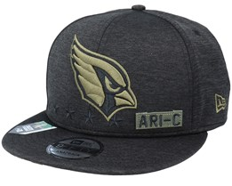 Arizona Cardinals Salute To Service NFL 20 Heather Black Snapback - New Era