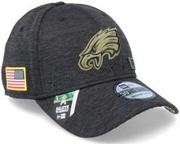 Philadelphia Eagles Salute To Service 39Thirty NFL 20 Heather Black Flexfit - New Era