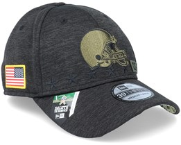 Cleveland Browns Salute To Service 39Thirty NFL 20 Heather Black Flexfit - New Era