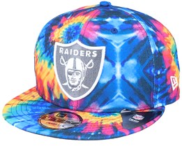 Las Vegas Raiders Crucial Catch 9Fifty Tie-Dye Multicolor Snapback - New Era