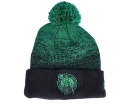 Boston Celtics Knit Medium NBA20 Back Half Black/Green Pom - New Era