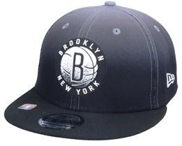 Brooklyn Nets 9FIFTY NBA20 Back Half Black/Grey Snapback - New Era