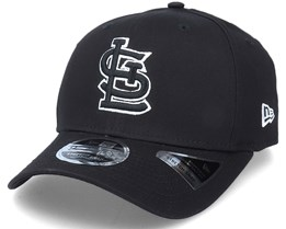 Hatstore Exclusive x St. Louis Cardinals Essential 9Fifty Stretch Black Adjustable - New Era