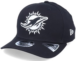Hatstore Exclusive x Miami Dolphins Essential 9Fifty Stretch Black Adjustable - New Era
