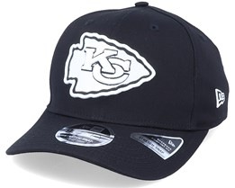 Hatstore Exclusive x Kansas City Chiefs Essential 9Fifty Stretch Black Adjustable - New Era