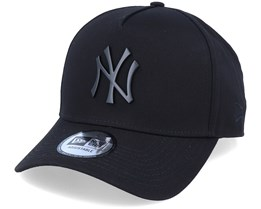 Hatstore Exclusive x New York Yankees Essential 9Forty A-frame Black Adjustable - New Era