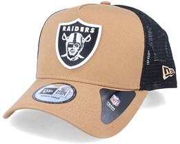 Hatstore Exclusive x Oakland Raiders Caramel A-Frame Trucker - New Era