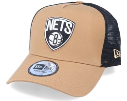 Hatstore Exclusive x Brooklyn Nets Caramel A-Frame Trucker - New Era