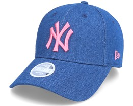New York Yankees Womens Washed Denim 9Forty Blue/Pink Adjustable - New Era