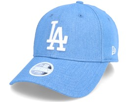 Los Angeles Dodgers Womens Washed Denim 9Forty Blue Adjustable - New Era