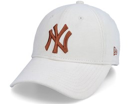 New York Yankees Womens Cord 9Forty Stone/Brown Adjustable - New Era
