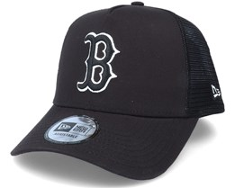 Boston Red Sox Tonal Mesh Black Trucker - New Era