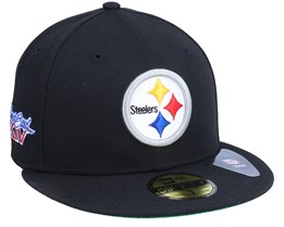 Pittsburgh Steelers Retro Sports 59Fifty OTC Black Fitted - New Era