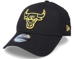 Chicago Bulls Metallic Logo 9Forty Black Adjustable - New Era