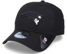 New England Patriots Black Base 9Forty Black Adjustable - New Era