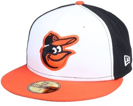 Baltimore Orioles Authentic On-Field 59Fifty White/Orange/Black Fitted - New Era