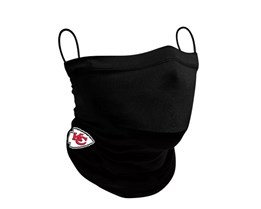 Kansas City Chiefs 1-Pack Black Neck Gaiter - New Era