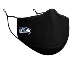 Seattle Seahawks 1-Pack Black Face Mask - New Era