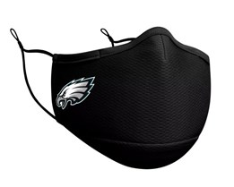 Philadelphia Eagles 1-Pack Black Face Mask - New Era