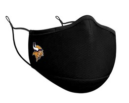 Minnesota Vikings 1-Pack Black Face Mask - New Era