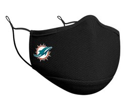 Miami Dolphins 1-Pack Black Face Mask - New Era