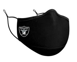 Las Vegas Raiders 1-Pack Black Face Mask - New Era