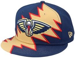 New Orleans Pelicans 9Fifty All-Star Game Tear Navy/Khaki Snapback - New Era