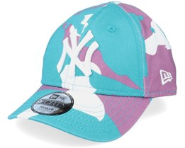 Kids New York Yankees Camo Pack 9Forty Teal Camo Adjustable - New Era