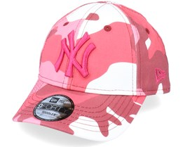 Kids New York Yankees Toddler Camo Pack 9FORTY Maroon Camo Adjustable - New Era