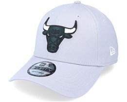 Chicago Bulls NBA Grayscale 9FORTY Gray Adjustable - New Era