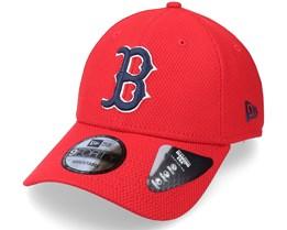 Boston Red Sox Alt Team Diamond Era 9FORTY Scarlet Adjustable - New Era