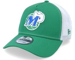 Dallas Mavericks 9Forty A-Frame Bot Green/White Trucker - New Era