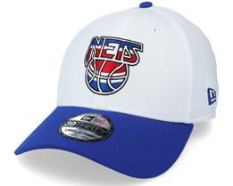 Brooklyn Nets 39Thirty 2021 Maj White/Blue Flexfit - New Era