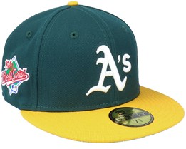 Oakland Athletics 59FIFTY MLB Paisley Undervisor Green/Yellow Fitted - New Era