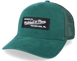 Own Brand Box Logo Dark Green Trucker - Mitchell & Ness