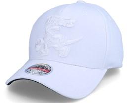 Toronto Raptors White Out Stretch White Adjustable - Mitchell & Ness