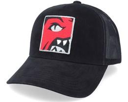 Toronto Raptors Icon Pinch Panel Black Trucker - Mitchell & Ness
