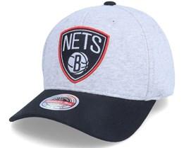 Brooklyn Nets 186 Redline Grey/Black Adjustable - Mitchell & Ness