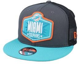 Kids Miami Dolphins 9Fifty NFL21 Dark Grey/Teal Trucker - New Era