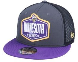 Minnesota Vikings 9Fifty NFL21 Draft Dark Grey/Purple Trucker - New Era
