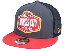 Kansas City Chiefs 9Fifty NFL21 Draft Dark Grey/Red Trucker - New Era