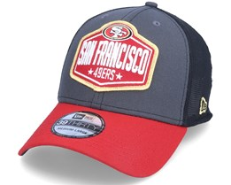 San Francisco 49ers 39Thirty NFL21 Draft Dark Grey/Red Flexfit - New Era
