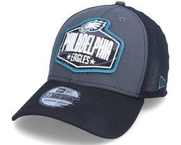 Philadelphia Eagles 39Thirty NFL21 Draft Dark Grey/Black Flexfit - New Era