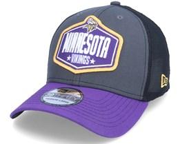 Minnesota Vikings 39Thirty NFL21 Draft Dark Grey/Purple Flexfit - New Era