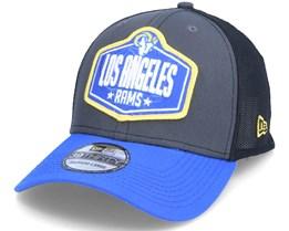 Los Angeles Rams 39Thirty NFL21 Draft Dark Grey/Blue Flexfit - New Era